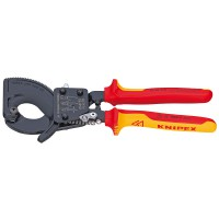 Alicate Cortacables Tipo Carraca Mango Aislado 2 Comp KNIPEX (De 250 o 280 mm)