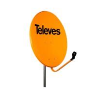 Antena Parabólica Off-Set de acero 65cm TELEVES Naranja