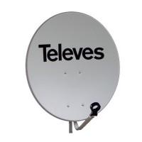 Antena Parabólica Off-Set de acero 65cm TELEVES Blanca