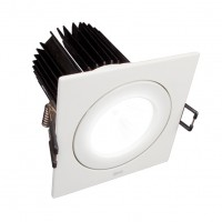 Foco Downlight LED Basculante 15,5W SIMON 705.24 WW Cuadrado Blanco 3000K 40D (90mm)