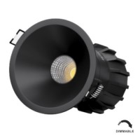 Foco Downlight LED PULSAR 8W Regulable Negro IP65 BENEITO FAURE