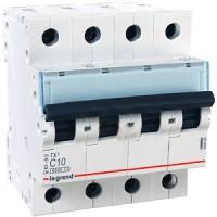 Automático Magnetotérmico 4P LEGRAND TX3 6KA Curva C (de 10A a 40A)