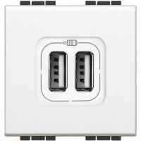 Base cargador USB doble BTICINO LIVINGLIGHT