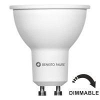 Bombilla LED GU10 Regulable 6W=75W 230V 60º Beneito Faure Hook