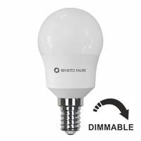 Bombilla LED Esférica Regulable 5,5W=40W E14 Beneito Faure