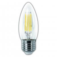 Bombilla VELA LED de Filamento MATEL 4W Transparente E27 400 lúmenes 2700K