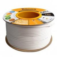 Cable de Antena Televés CXT1 Cu+Ac/Al PVC Clase A Blanco (Rollo 100 Metros)
