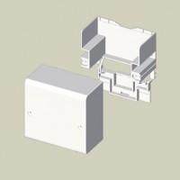 Caja de Conexión y Derivación Canaleta Unex 78 (30 y 75 mm)