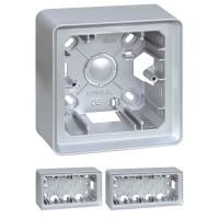 Caja de Superficie para Simon Detail 82 Aluminio Frío