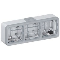 Caja de Superficie Triple Horizontal Plexo LEGRAND