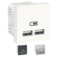 Cargador doble USB 2.1A New Unica Schneider