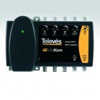 Central Amplificadora MATV MiniKom Televés Baja Potencia 1 entrada Conector F