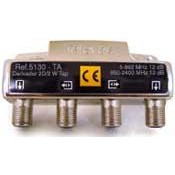 Derivador Interior Televés TDT-SAT 2 salidas 5-2400Mhz Conector F (12dB, 15dB, 18dB, 23dB y 27dB)
