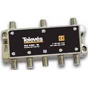 Derivador Interior Televés TDT-SAT 6 salidas 5-2400Mhz Conector F (19dB, 21dB y 25dB)