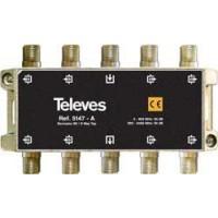 Derivador Interior Televes TDT-SAT 8 salidas 5-2400Mhz Conector F (19dB, 20dB y 25dB)