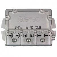 Derivador Interior Televés TDT-SAT 4 salidas 5-2400Mhz EasyF (12dB, 16dB, 20dB y 25dB)