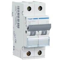 Interruptor Automático HAGER MU 2P 6kA Curva C (Gama Residencial)