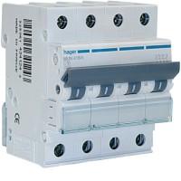 Interruptor Automático HAGER MU 4P 6kA Curva C (Gama Residencial - Terciario)