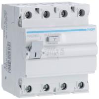 Interruptor Diferencial HAGER MU 4 Polos 300 mA Tipo AC (Gama Local Profesional)