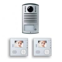 Kit V2 VideoPortero de SUPERFICIE a Color Manos Libres 2 hilos TEGUI L2000 + Classe 100  (2 VIVIENDAS) 376221