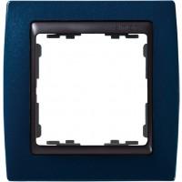 Marco SIMON 82 Azul Metalizado Zócalo Grafito (1 a 4 elementos)
