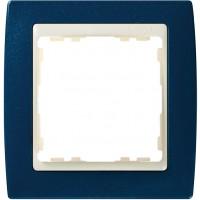Marco SIMON 82 Azul Metalizado Zócalo Marfil (1 a 4 elementos)