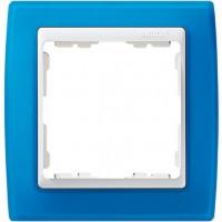 Marco SIMON 82 Azul Traslúcido Zócalo Blanco (1 a 4 elementos)