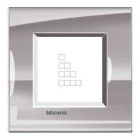 Marco BTICINO Living Light NÍQUEL (1 a 4 elementos)