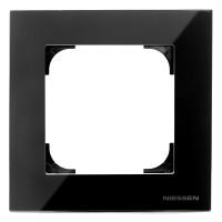 Marco 1 elemento NIESSEN SKY Cristal Negro