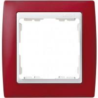 Marco SIMON 82 Rojo Traslúcido Zócalo Blanco (1 a 4 elementos)