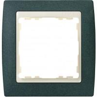 Marco SIMON 82 Verde Textura Zócalo Marfil (1 a 4 elementos)