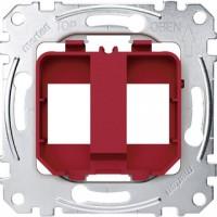 Mecanismo SOPORTE DOBLE CONECTORES RJ45 D-Life de Schneider MTN4566-0006
