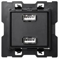 Cargador USB 2 bocas SIMON 100 referencia 10000381-039