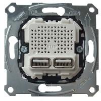 Mecanismo CARGADOR DOBLE USB 2100 mA D-life SCHNEIDER MTN4366-0100