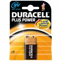 Pila Alcalina Duracell Plus Power 9V (6LR61)