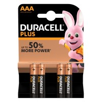 Pilas Alcalinas Duracell Plus AAA (Blister 4 pilas)