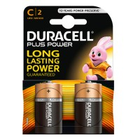 Pilas Alcalinas Duracell Plus Power LR14 (C) Blister de 2 pilas