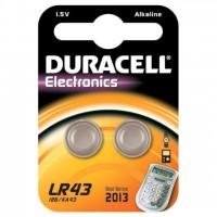 Pila de Botón Alcalina LR43 Duracell (Blister de 2 pilas)
