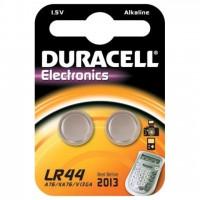 Pila de Botón Alcalina LR44 Duracell (Blister de 2 pilas)