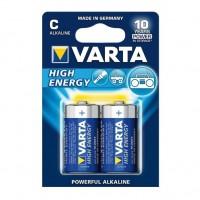 Pilas Alcalinas Varta High Energy LR14 (C) Blister de 2 pilas