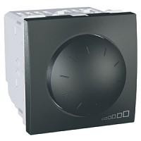 Regulador Interruptor Conmutador 40-400 W/VA Grafito Schneider UNICA TOP