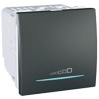 Regulador Interruptor Conmutador  20-350 W/VA Grafito UNICA TOP