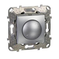 Regulador - conmutador Led 10-100 VA Schneider Unica Top Aluminio