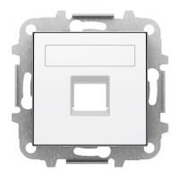 Tapa Toma Informática de Datos 1 Conector con persiana Niessen Sky Blanco Soft