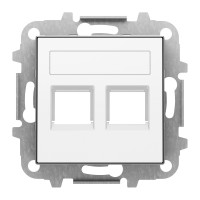 Tapa Toma Informática de Datos 2 Conectores con persiana Niessen Sky Blanco Soft