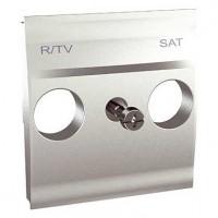 Tapa Carátula TV-SAT Schneider Unica Top Aluminio