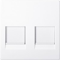 Tapa DATOS DOBLE RJ45 Elegance de Schneider Electric