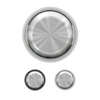 Tecla Interruptor-Conmutador Niessen SKYMOON 8601 (Cromo y Cristal Negro)