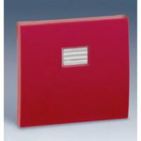 Tecla Simple con Visor SIMON 44 AQUA (Aluminio, rojo o verde pistacho)