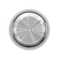 Tecla con Visor Niessen SKYMOON 8601.3 (Cromo y Cristal Negro)